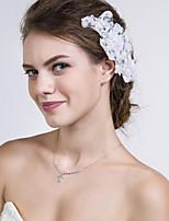 Blommor Headpiece Dam Bröllop/Speciellt Tillfälle/Casual Spets Bröllop/Speciellt Tillfälle/Casual 1 st.