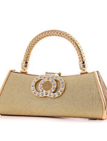 Women PU / Metal Minaudiere Tote / Clutch / Evening Bag / Wristlet-Gold / Silver