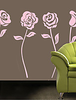 Wall Stickers Wall Decals Style Pink Flowers PVC Wall Stickers