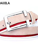 Men Party/Work/Casual Calfskin Waist Belt buckle leather suede cowhide business casual fashion wild
