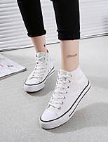 Scarpe Donna Tessuto Zeppa Comoda/Punta arrotondata Sneakers alla moda Tempo libero/Casual Nero/Blu/Rosso/Bianco