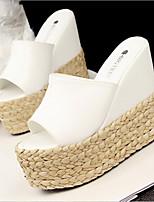 Women's Shoes Wedge Heel Open Toe Sandals Dress Black/White/Silver