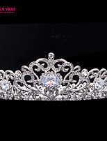 Neoglory Round Bridal Tiara Crown for Lady Wedding Pageant with Austrian Rhinestone