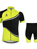 ARSUXEO Short Sleeve Cycling Suit Quick Dry Breathable Clothing Cycling Jerseys+Shorts