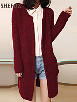 Women's Casual/Work Stretchy Medium Long Sleeve Cardigan (Knitwear) SF7C11