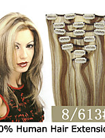 3 Set 15 inch 7pcs /set 70g Clip-in Hair Remy Indian Human Hair Extensions