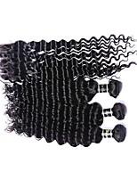 4pcs / lot eurasian cabelo 100% cabelo remy eurasian profunda onda virgem 8