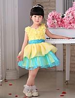 Flower Girl Dress - Tiul Bez rękawów - Księżniczka Kolan
