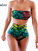 Women's Underwire Bra/Padless Bra High Rise/Floral Halter Bikinis (Others)