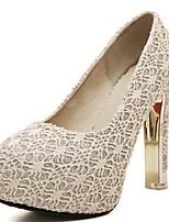 Women's Shoes Synthetic Stiletto Heel Heels Pumps/Heels Casual Black/Beige