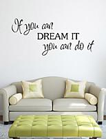 Stickers muraux murale de style de décalcomanies si vous pouvez mots anglais&cite muraux PVC autocollants