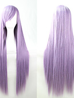 New Anime Cosplay New Purple Long Straight Hair Wig 80CM