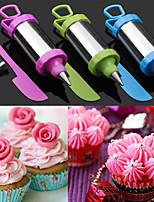 conjunto de 4 bolo caneta ferramenta artesanato açúcar decoração definir ponta do bico de confeitar com raspador (cor aleatória)