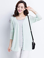 Women's Casual Thin Long Sleeve Cardigan (Knitwear/Wool Blends)(More Colors)