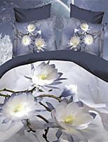 White Polyester King Duvet Cover Sets