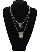 Women's European Style Fashion Wild Metal Geometric Alloy Necklace