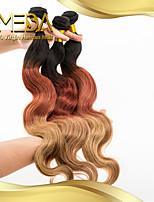 3pcs / lot brasileño cuerpo 3t-color del pelo virginal del pelo de la onda el 100% extensión del pelo humano paquetes armadura del pelo