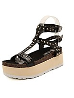 Women's Shoes Platform Creepers/Open Toe Sandals Casual Black/Gray