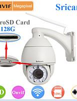 sricam® IP PTZ telecamera esterna impermeabile 720p notte giorno wifi impermeabile supporto della scheda microsd 128