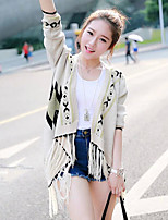 Women's Beige Cardigan , Casual Long Sleeve
