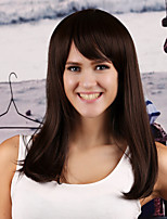 Women Synthetic Medium Brown Wig Straight 18 Inch