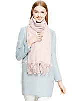CSZM Fashion Scarf Winter Plain Color Pearl Shawl Soft Rabbit Fur Wrap Thick Tassel Cashmere Wool Scarves Frauen Schal