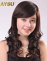 ondulés femme remy vierge humaine top cheveux mono moyen de longues perruques