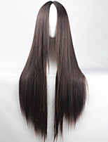 New Anime Cosplay Black Carve Long Straight Hair Wig 80CM