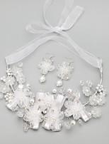 Women's Alloy/Rhinestone/Imitation Pearl Jewelry Set Imitation Pearl/Rhinestone