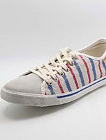 Men's Shoes Casual Fabric Fashion Sneakers Blue/Red
