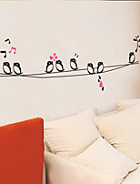Wall Stickers Wall Decals Style Singing Birds PVC Wall Stickers