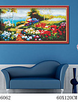 DIY Digital Oil Painting  Large Size Without Frame  Family Fun Painting All By Myself     Rural Flowers 6062