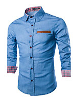 Men's Long Sleeve Shirt , Others Casual