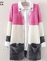 Women's Pink/Purple Cardigan , Casual Long Sleeve