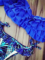 Women's Sexy Ruffled Bandeau Bikini Swimsuit