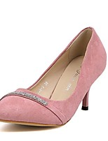 Women's Shoes Kitten Heel Heels Pumps/Heels Casual Black/Pink