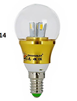 ZHISHUNJIA E26/E27/E14 5 W 10 SMD 5630 450lm LM Natural White Decorative Globe Bulbs AC 85-265 V