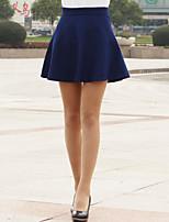 Women's Cute/Work Above Knee Skirts , Tweed Inelastic