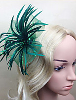 Women Fabric Hair Clip , Party Folwer Flower Headpiece