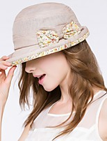 women pastoral Vintage bow tie small floral hat
