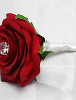 The Groom Wedding Wine Red Brooch Corsage Wedding Flowers Round Peonies Bouquets