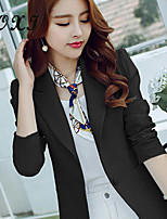 Women's Solid Blue/Green Blazer , Sexy/Casual/Cute/Party/Work V Neck Long Sleeve
