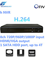 GREAT  8ch NVR with ONVIF2.4 Compatibility, 8ch 1080P/960P/720P input