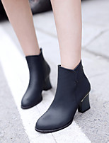 Women's Shoes Stiletto Heel Pointed Toe Boots Office & Career/Casual Black/Blue/Brown