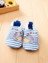 Unisex Baby's Cartoon Striped Donkey Slip-on Shoes Infant Toddler First Walker Prewalker Girl Boy Walk Trainer Crip