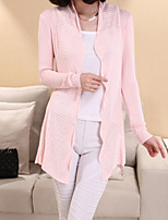 Women's Slim Lace Collar Solid Color Long Sleeve Cardigan