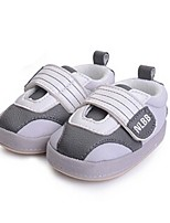 Baby Shoes Casual Fabric Athletic Shoes Gray/Tan