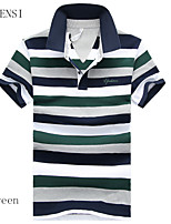 In the summer of 2015 new men's T-shirt Lapel fat code striped short sleeved POLO shirt