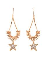 Glamorous 18k Gold 4 Petals Clover Dangle Earrings