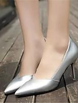 Women's Shoes Stiletto Heel Pointed Toe Pumps/Heels Dress Black/Red/White/Silver/Beige